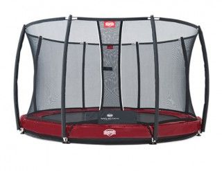 Батут Berg Elite + InGround Red 380 + Safety Net T-series 380