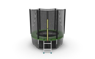 Батут EVO JUMP EXTERNAL 6 FT GREEN + LOWER NET